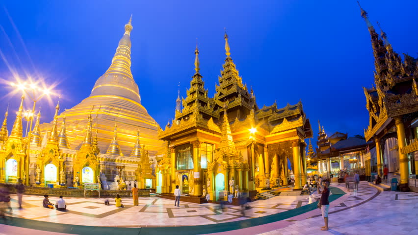 Shwedagon pagadoen i Myanmar