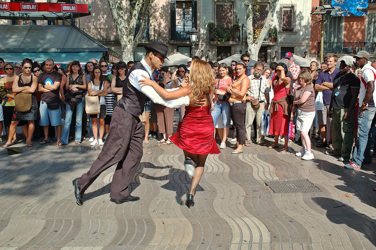 barcelona la Rambla dans