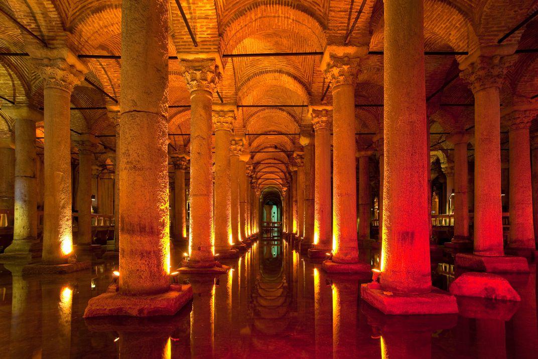 Istanbul, søjlerne i cisternen fra 500 tallet