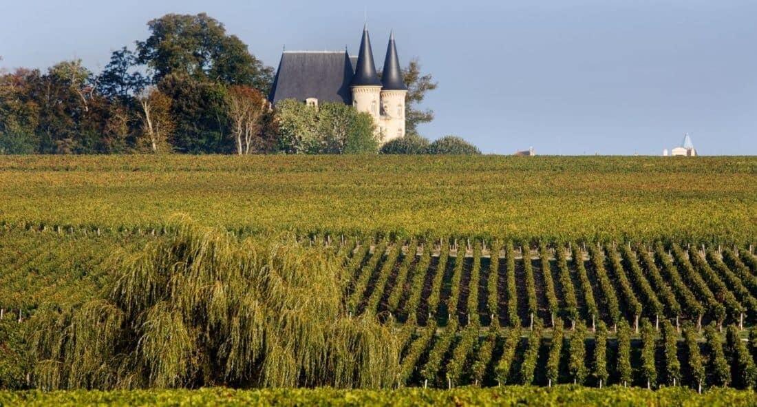 Bordeaux Frankrig. Chateau Pichon Longueville, fransk vin