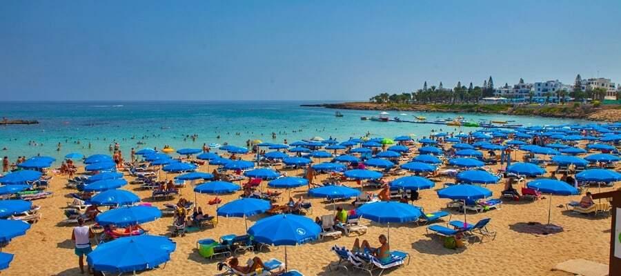 Cypern blå flag strand