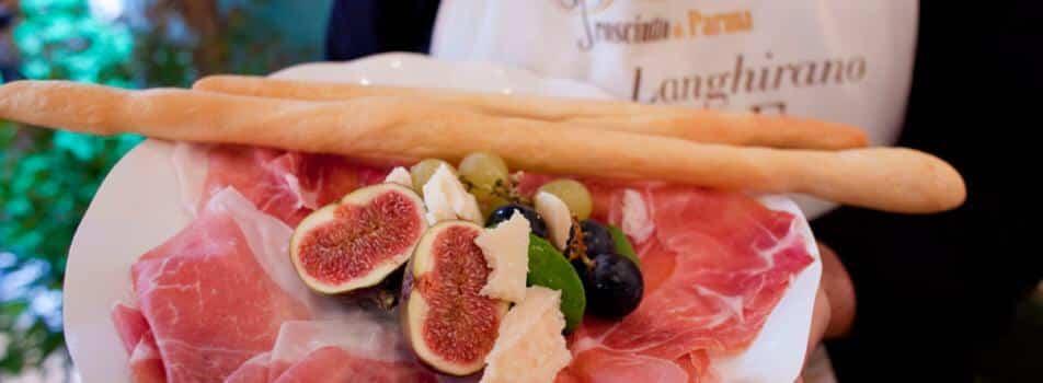 Prosciutto di parma med figner fra Emilia Romagna, Italien