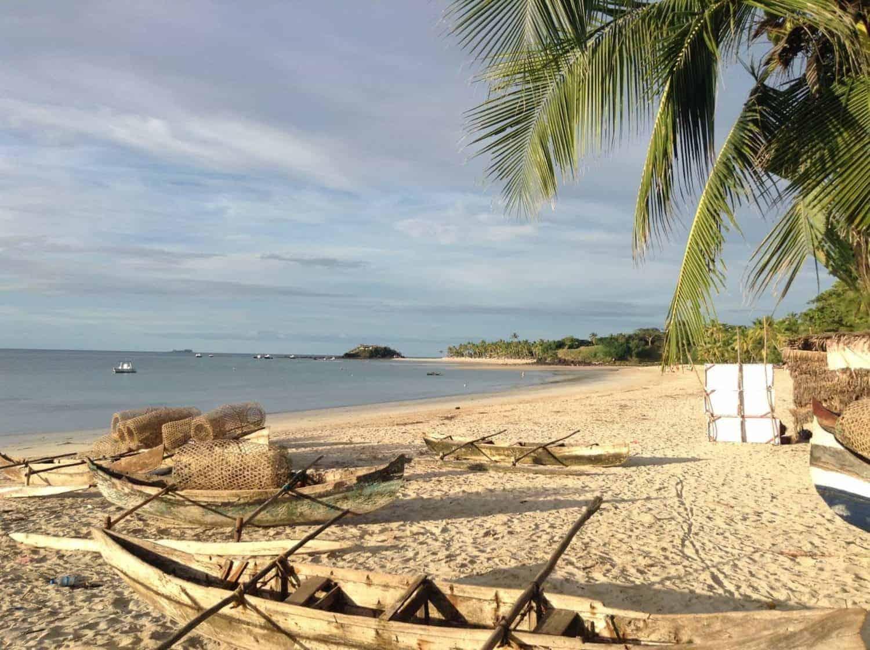 Madagaskar, lokale fiskerbåde hviler sig